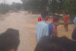 Akibat Banjir di Lampung Tengah Puluhan Rumah Warga Tenggelam