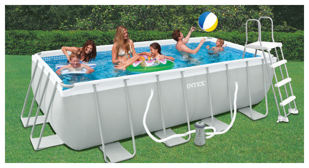 Piscinas easy set piscinas intex for Cubre piscinas bestway