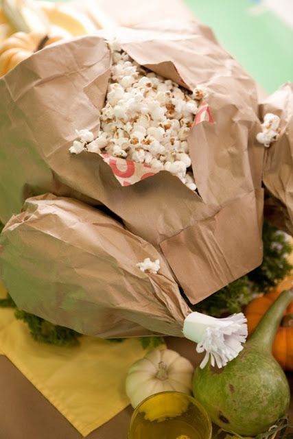 Roast turkey paper bag craft.