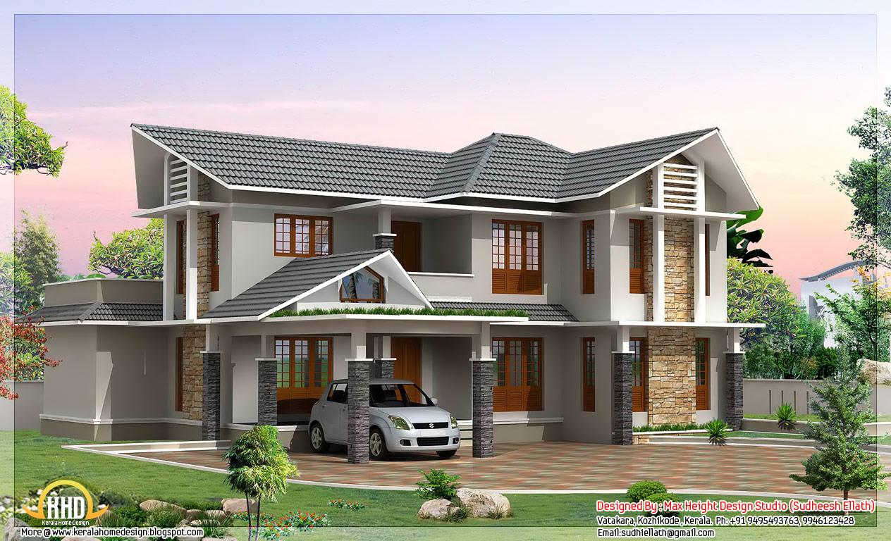 Exterior Collections Kerala Home Design (3d Views Of