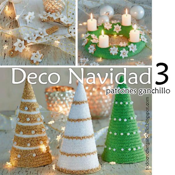 Crochet para navidad 3 tutoriales todo crochet - Tutorial arbol de navidad ...