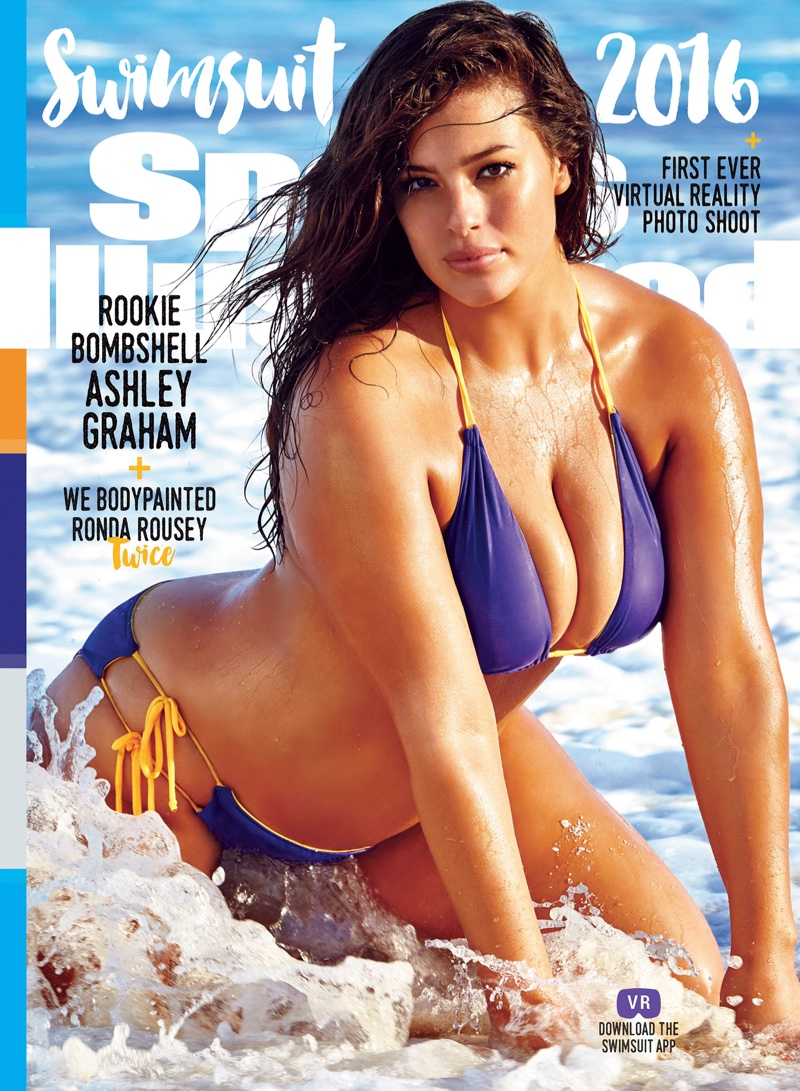 Ashley Graham on Sports Illustrated Swimsuit 2016 Issue Cover