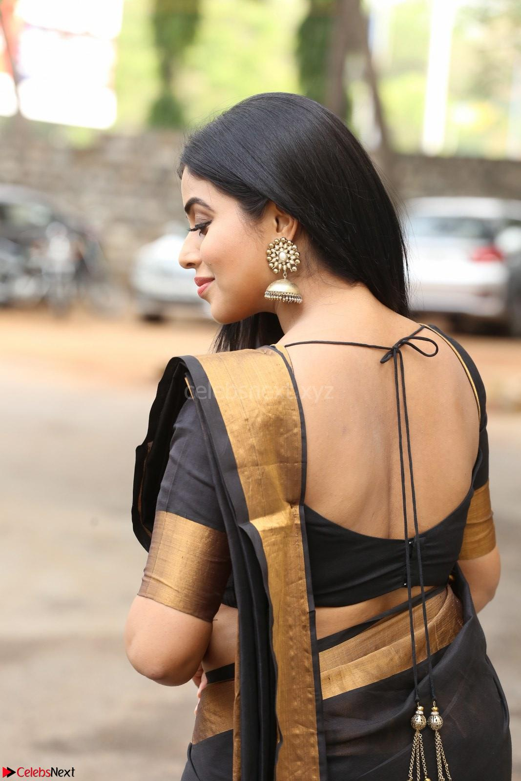 Poorna in Cute Backless Choli Saree Stunning Beauty at Avantika Movie platinum Disc Function ~ CelebsNext Exclusive