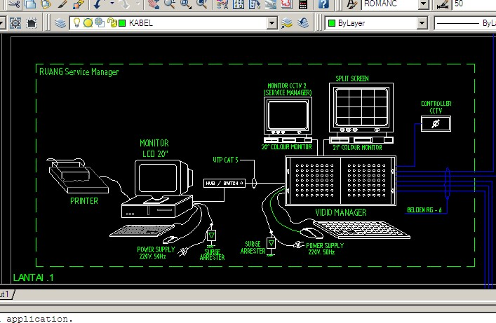 CCTV  Kumpulan Referensi Gambar Autocad Instalasi CCTV