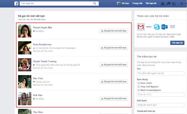 thủ thuật tin học , itkyc , các xem ai đã từ chối kết bạn trên facebook
