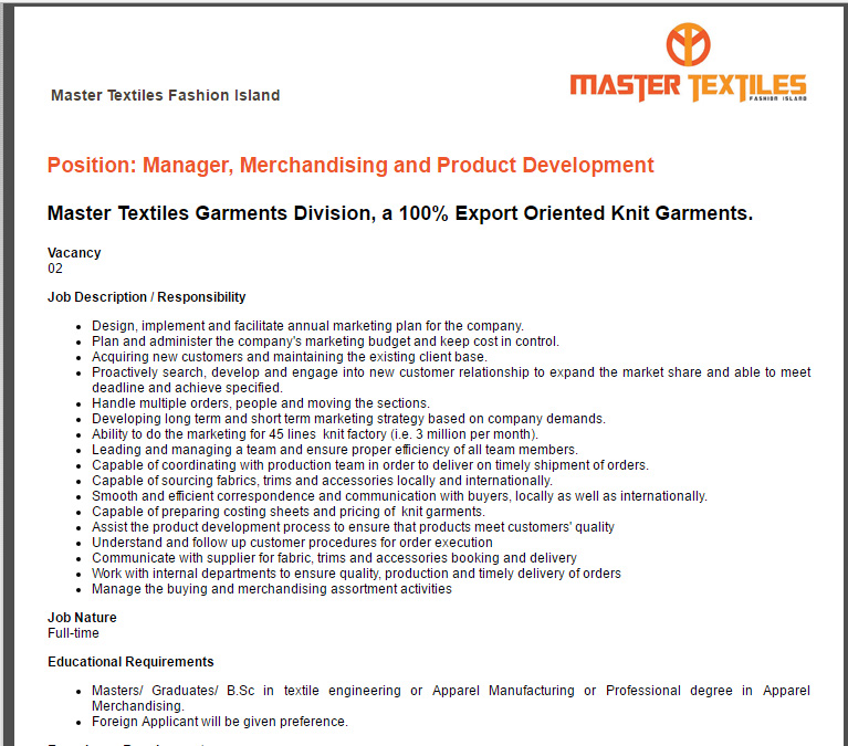 Product manager fashion jobs 69