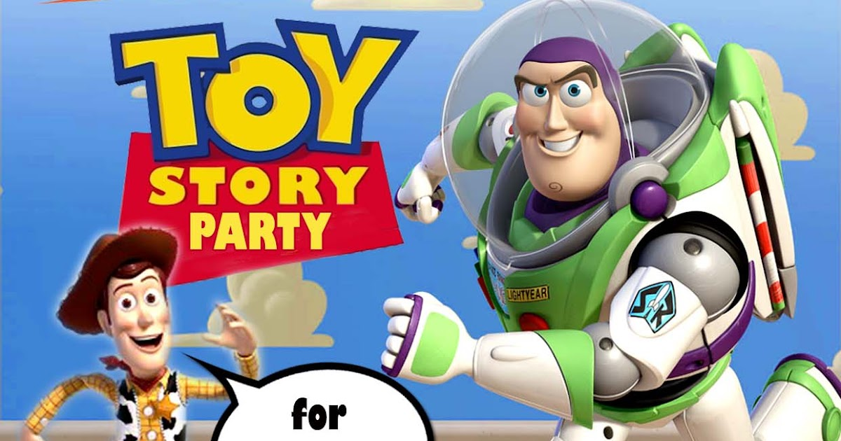 Free Kids Party Invitations Toy Story Party Invitation