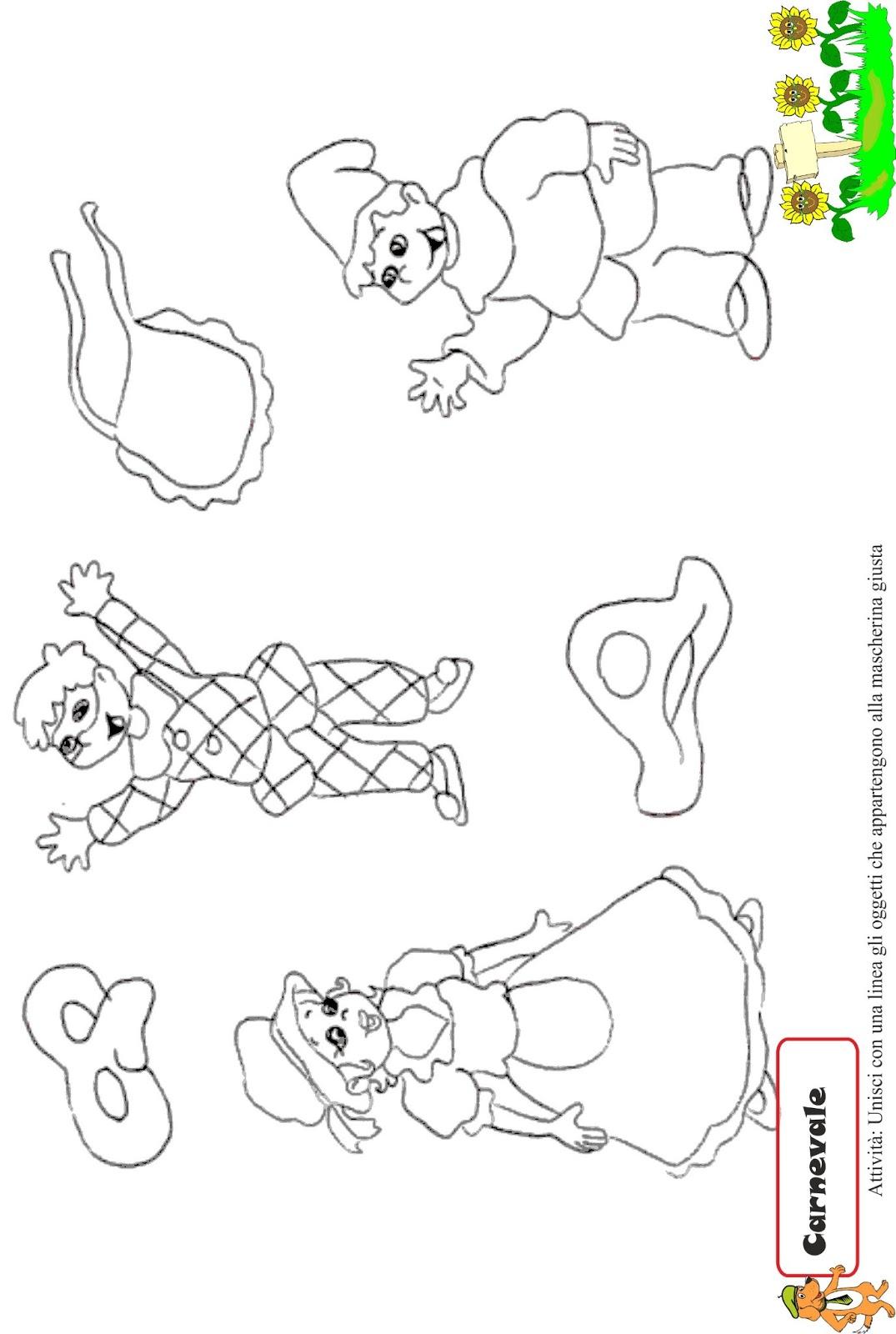 A scuola con poldo schede carnevale 3 for Schede didattiche scuola infanzia 3 anni