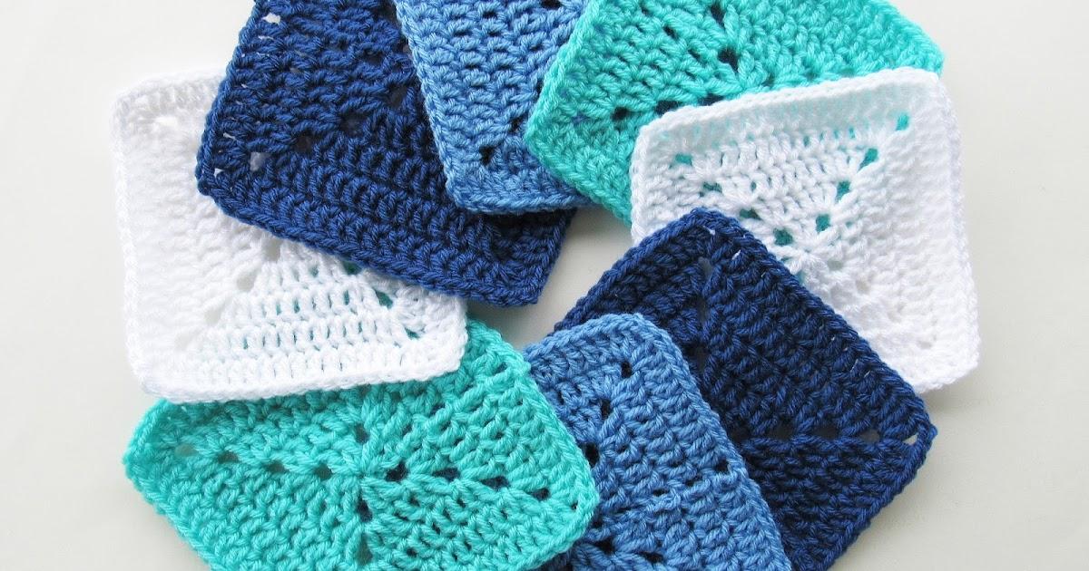 Ocean Themed Granny Square Afghan Series Crochet Pattern Marias