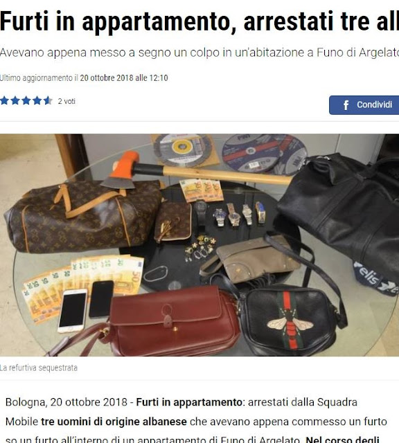 3 Albanians are arrested while stealing inside apartment in Italy
