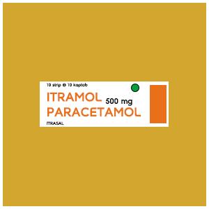 Itramol : Paracetamol 500 mg Kaptab