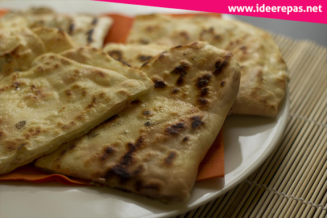 Recette naan fromage