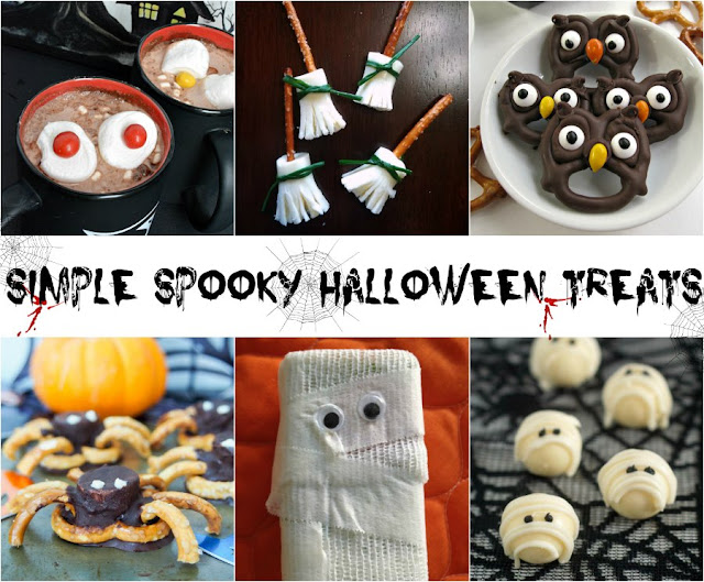 collage of fun halloween treats