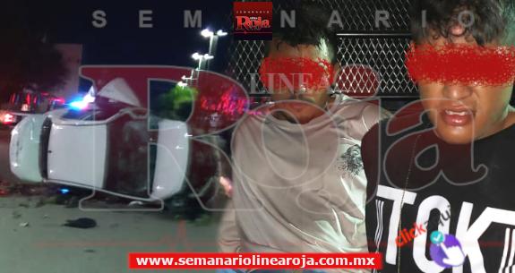 Asaltos violentos contra gasolineras de Playa del Carmen durante esta madrugada de lunes, deja 2 detenidos tras espectacular persecución policiaca