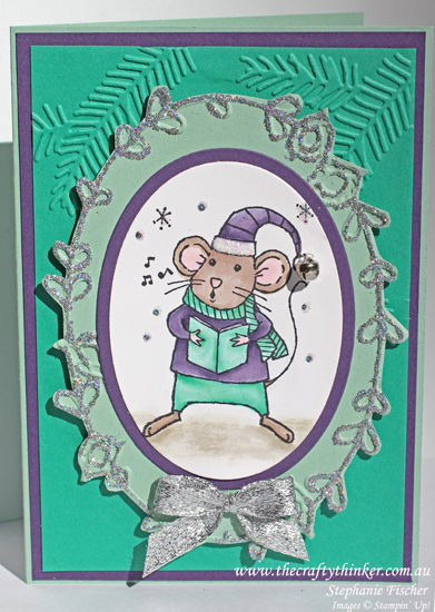 Stampin Up, #thecraftythinker, Holiday Catalogue Sneak peek, Christmas Card, Merry Mice, Stampin Up Australia Demonstrator, Xmas Card