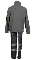 Ampliar imagen : Vista de espaldas : Forro polar gris con cremallera - MORU®