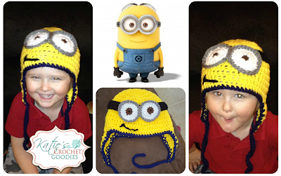 crochet minion despicable me hat