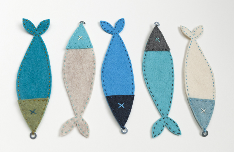 felt fish finished create your own diy magnetic