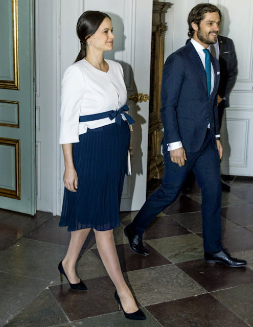 the Royal Couple, Prince Carl Philip and Princess Sofia attended the meeting of UN ambassadors at the Royal Palace.
