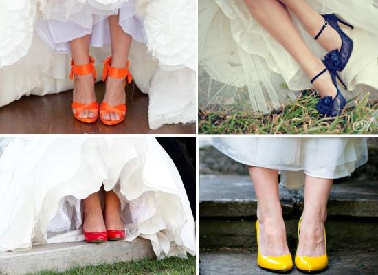 b6f108f4 inspiracje weddingfairy: Kolorowe buty ślubne