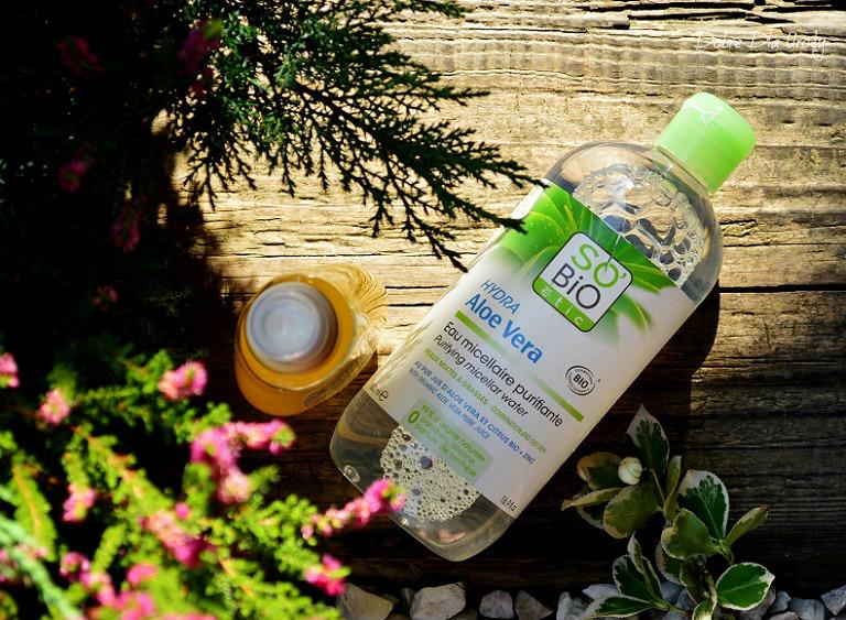 SO BIO Oczyszczająca i matująca woda micelarna z aloesem Ecocert