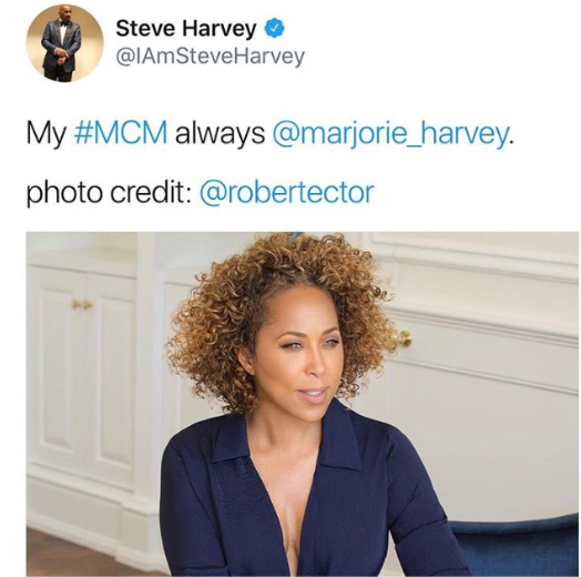Steve Harvey calls his wife a man on Twitter