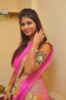Lucky Sree in dasling Pink Saree and Orange Choli DSC 0330 1600x1063.JPG