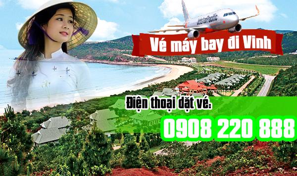 Đặt mua Vé máy bay đi Vinh tại Tân Bình