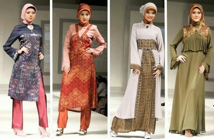 Koleksi model baju muslim batik untuk acara formal