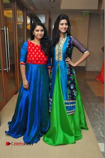 Actress Model Shamili Sounderajan Pos in Desginer Long Dress at Khwaaish Designer Exhibition Curtain Raiser  0060.JPG