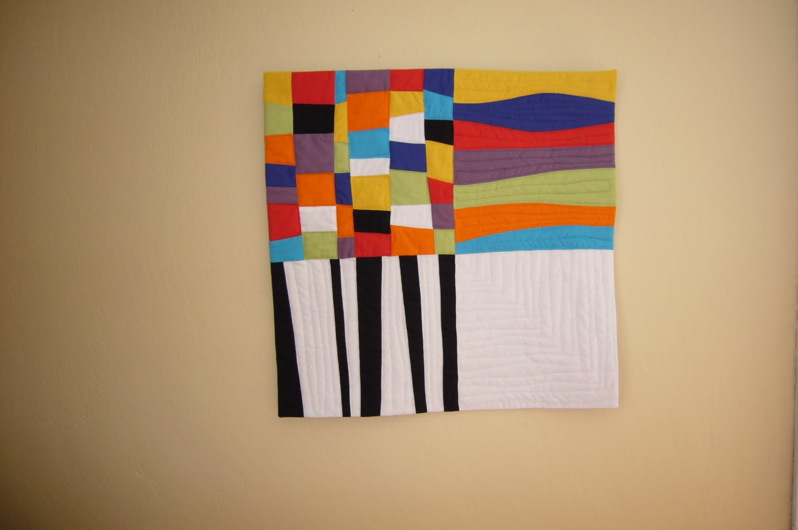 3patchcrafts 50 50 Contemporary Art Quilt