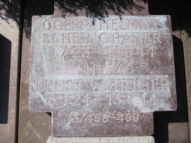 KIA Aviator Ju-188 luftwaffe tombstone costermano Obgefr. Helmut Scheingraber Uffz. Franz Wehmeier