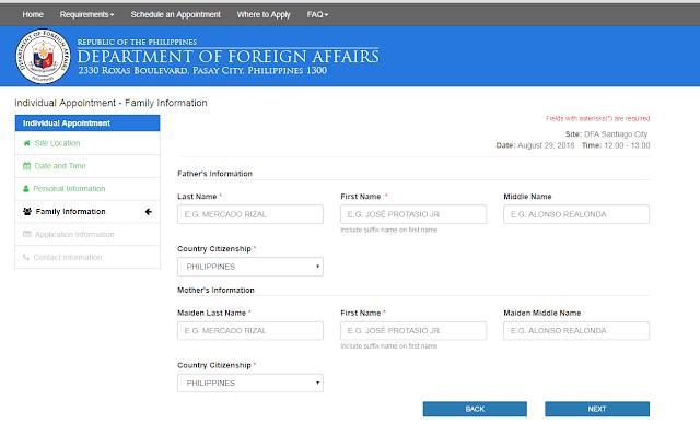 Passport Personal Details