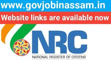 NRC Assam,govjobinassam