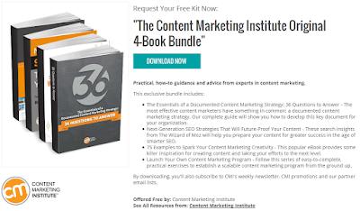The Content Marketing Institute Original 4-Book Bundle, Free Content Marketing Institute Kit