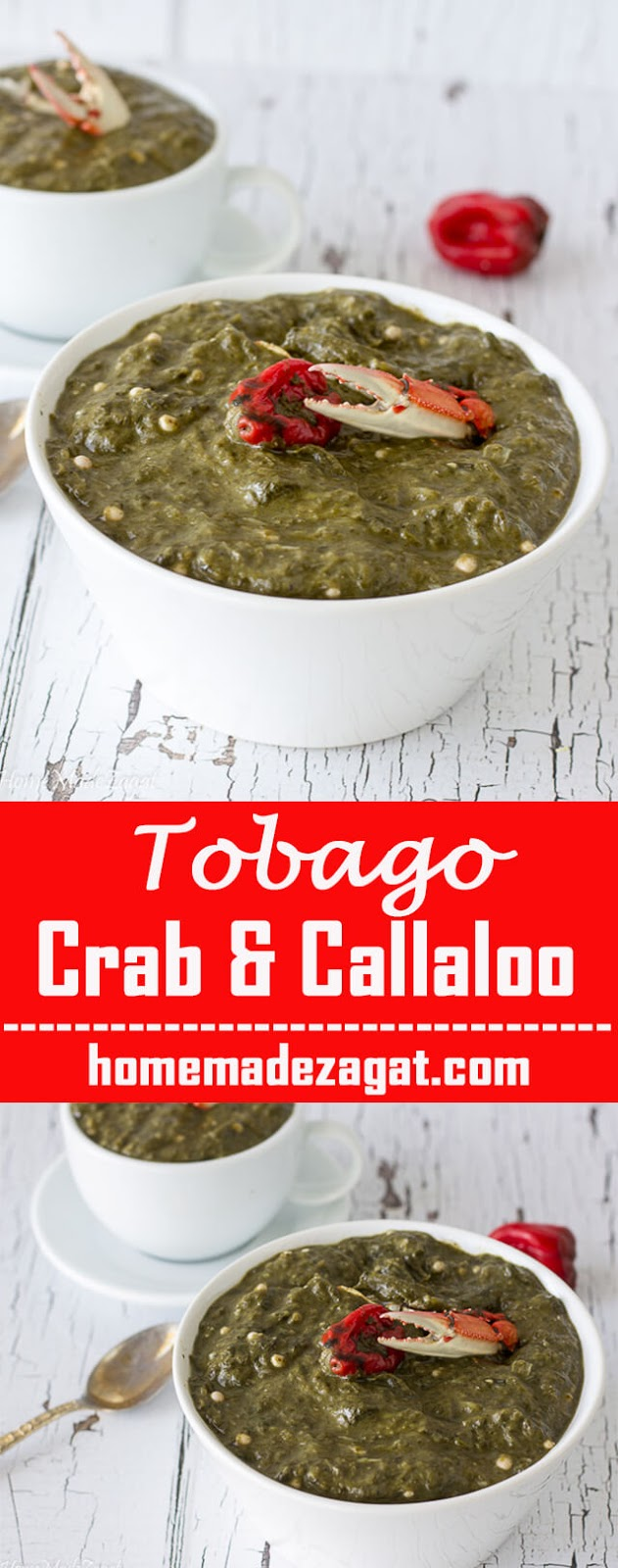 Delicious callaloo recipe with crab