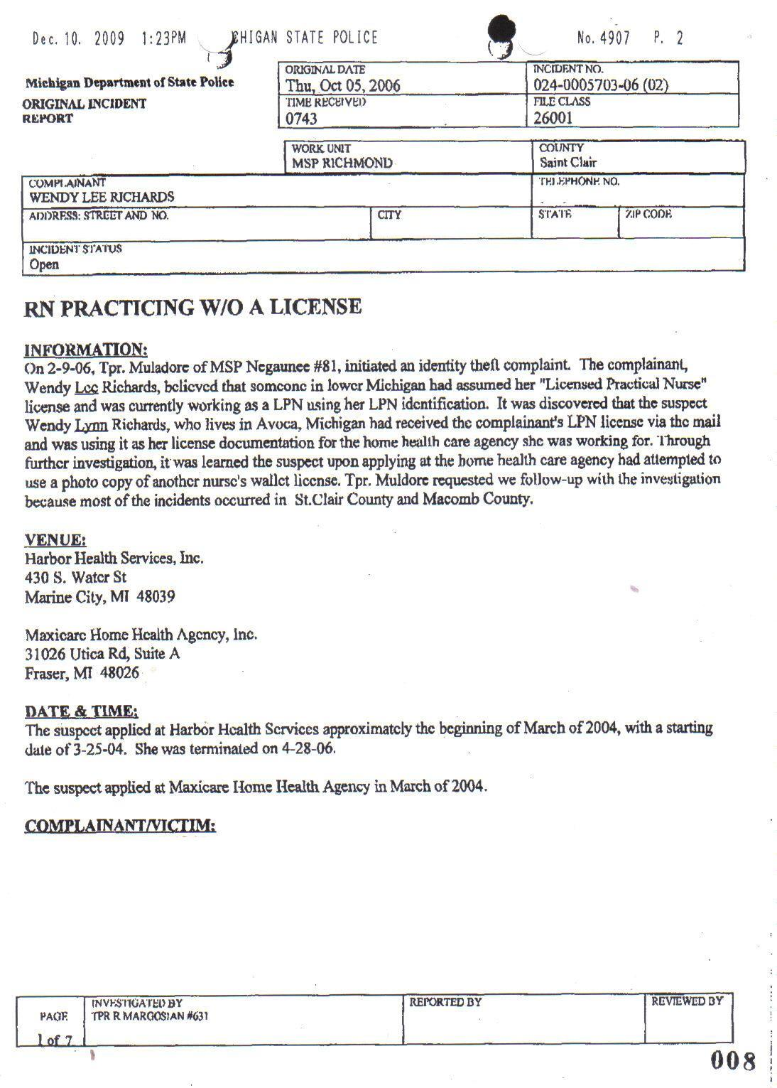 Physical Education report writing format for high school students