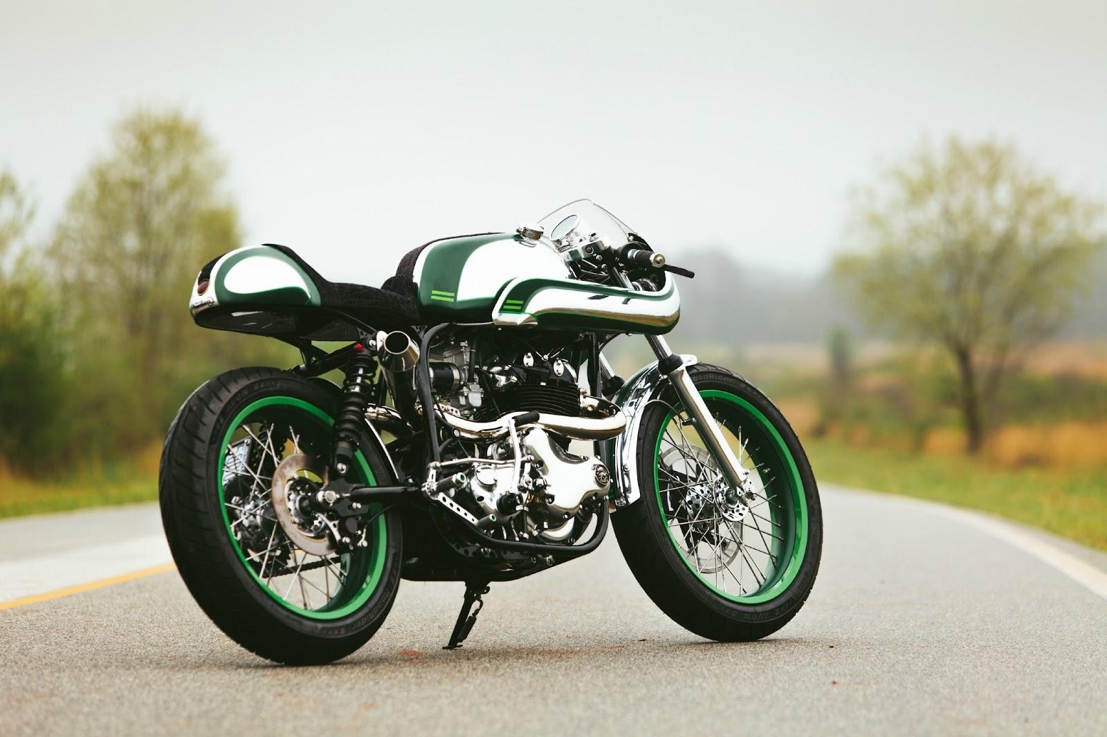 racing caf norton misty green by fuller moto. Black Bedroom Furniture Sets. Home Design Ideas