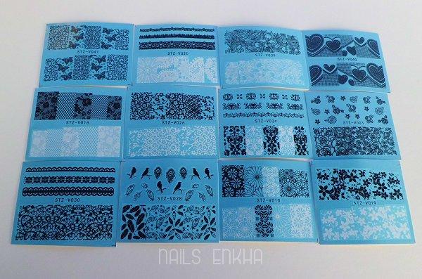 3D Nail Vynils / Vinyl Stencils
