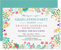 Modern Chic Fresh Floral 2018 Graduation Party