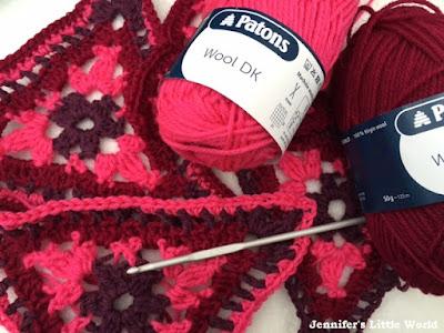 Patons crochet along 2015 - DK Afghan crochet blanket