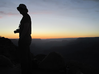 sunset silhouette, Grand Canyon
