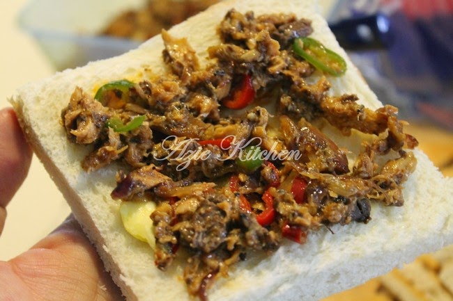Sandwich Sardin Untuk Hidangan Petang