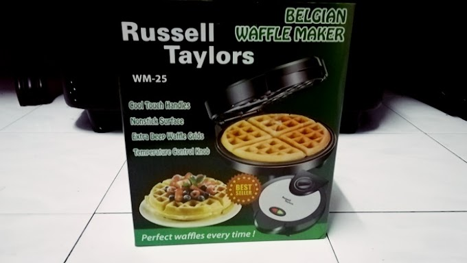 Russell Taylors Belgian Waffle Maker with Temperature Control (Stainless Steel) WM-25