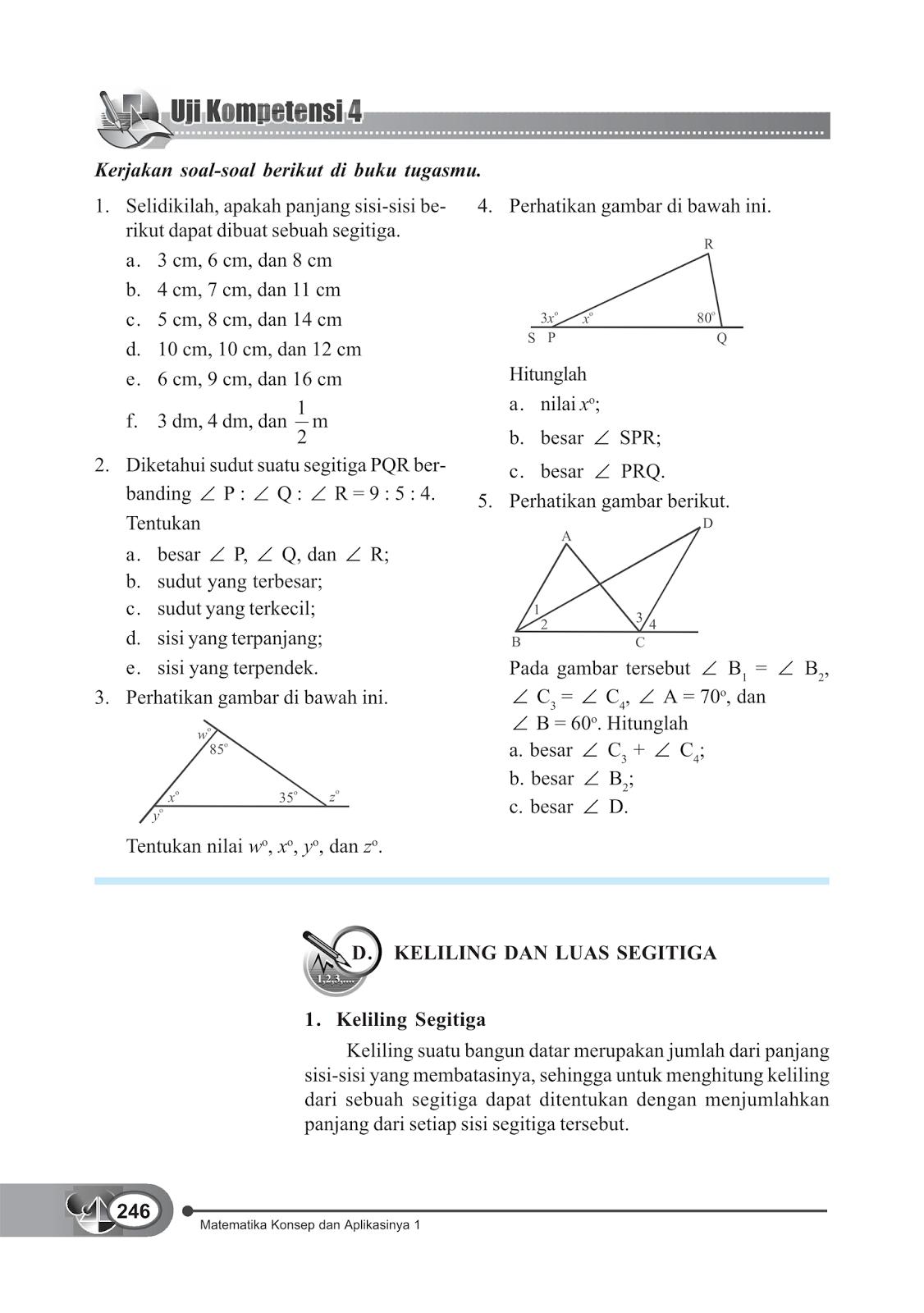 Materi Segitiga Dan Segiempat Smp Kelas 7 Artikel Matematika