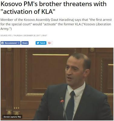 """Κοσσυφοπέδιο: Ο αδελφός του πρωθυπουργού απειλεί με """"ενεργοποίηση"""" του UCK"""