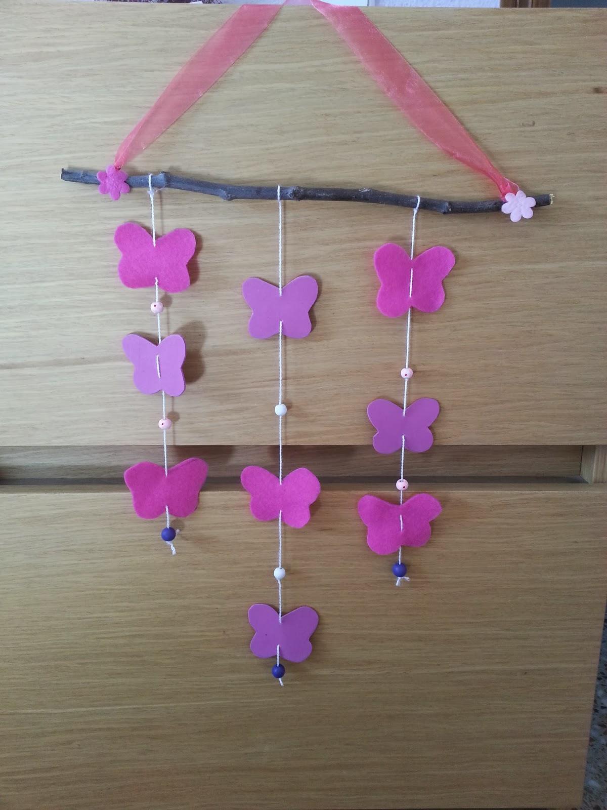 Manualidades ana moviles de cuna o para decorar el cuarto for Como decorar el cuarto de mi hija