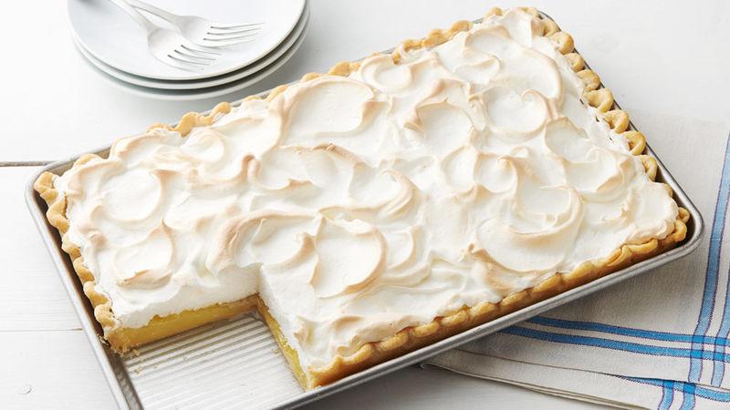 It S All In The Spice Lemon Meringue Slab Pie