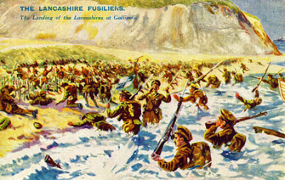 'The Lancashire Landing', Cape Helles, 1915.