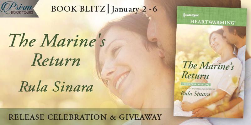 We're blitzing about the release of THE MARINE'S RETURN by Rula Sinara!